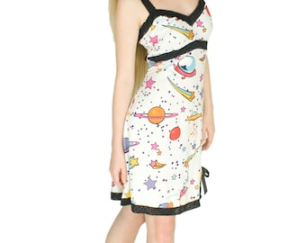 Sexy Lace Slip, Soft Jersey Nightgown, Geeky Spaceships Pajamas, Gifts for Girlfriend