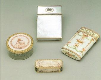 Faberge Print, Iridescent Card Case, Louis XVI Cigarette Case, Fine Art, Giclee Print, Russian Artwork, Cigarette Case Print, Russian Art