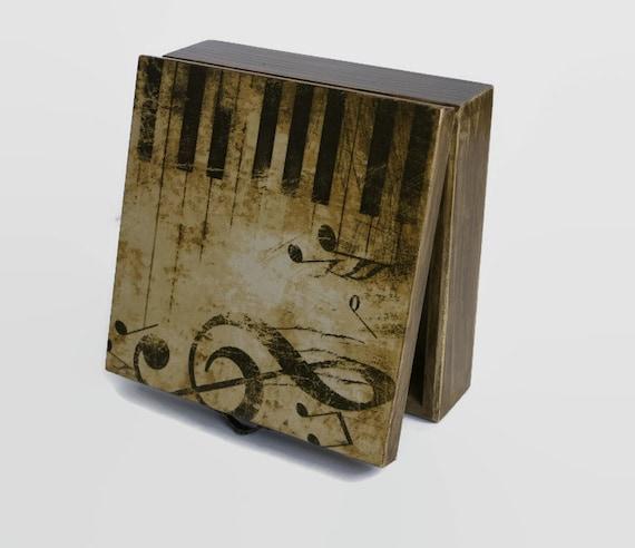 Piano box Music Gift storage box Jewelry box Music theme