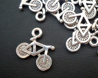 "Silver Bicycle Charms -  5/8"" Wide"