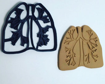 Lungs Cookie Cutter 3D Printed