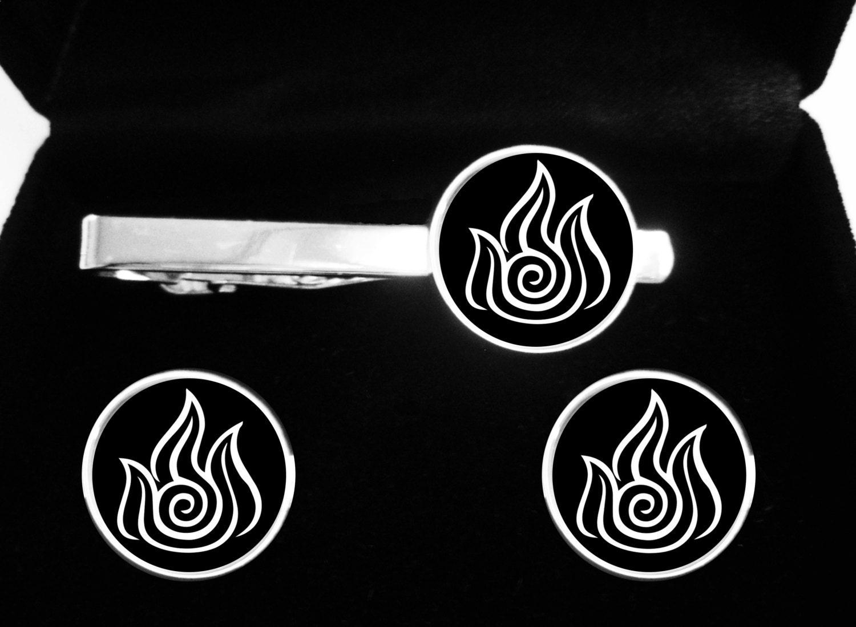 Avatar the last airbender cufflinks and tie clip legend of zoom buycottarizona
