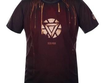 IRON MEN Compression Marvel Superhero Shirt