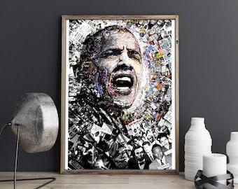 President Obama poster, Barack Obama, Obama motivational poster, Obama, Obama quotes, politics print, Barack obama inspiration