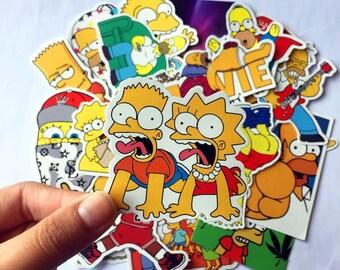 Simpsons Stickers Pack (x25) Vinyl Decals - Homer Sticker - Bart Sticker - Die Cut - Lisa Stickers