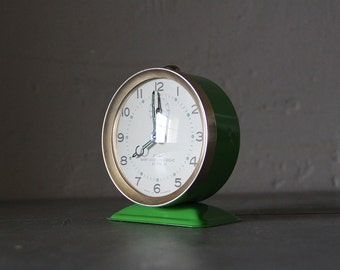 French Vintage Alarm Clock Bayard Mid Century