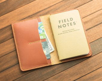 Chestnut  Handmade Leather Field Note / Journal Cover