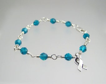Interstitial Cystitis Awareness Bracelet Available in Teal or Turquoise
