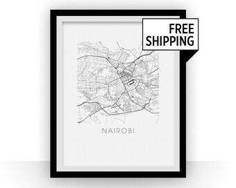 Nairobi Map Print