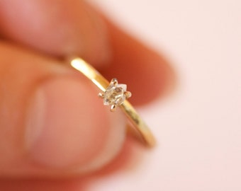 Solid 14k or 18k Gold Herkimer Diamond Ring. Herkimer Ring. Herkimer Diamond Ring. Herkimer Diamond Engagement Ring.Solid Gold Herkimer Ring