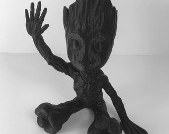 "3D Printed Baby Groot - Guardians of the Galaxy - Groot - Tree - Baby Groot Statue - Statue - Paintable Groot - 4"" or 5"" Baby Groot"