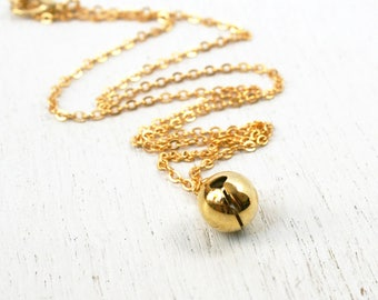 Golden Jingle Bell Necklace