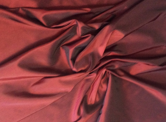 Taffetas fabric, bordeaux /black