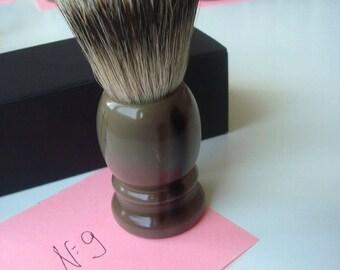 1 pc 22mm Knot Silvertip Badger Hair Shaving Brush Real Horn Handle #9
