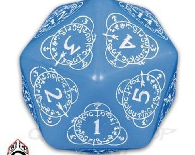 Exotic Dice: d20 Blue & White Card Game Level Counter - Q-Workshop