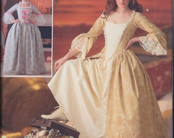 Simplicity 4092 Misses 18th Century Outlander Poldark Costume Gown UNCUT Sewing Pattern