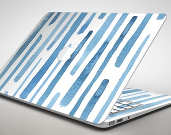 Blue Abstract WaterColor Strokes - Apple MacBook Air or Pro Skin Decal Kit (All Versions Available)