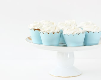Light Blue Cupcake Wrappers Twinkle Little Star Birthday Party Baby Blue Party Supplies Cupcake Liners Boy Baby Shower Cupcake Wrappers