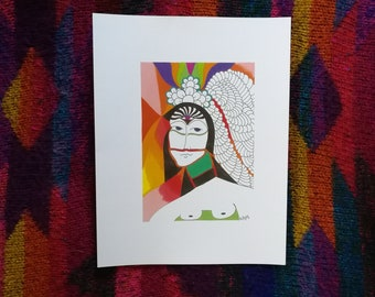 Artist Print: Peaceful Warrior