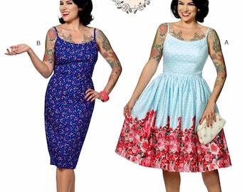 Sundress Pattern by Gertie, Straight Dress Pattern, Full Skirt Dress Pattern, Butterick Sewing Pattern 6453