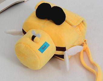 Cute honeybee DSLR camera bag Custom name digital camera backpack carry On Bag DSLR camera case SLR camera bag
