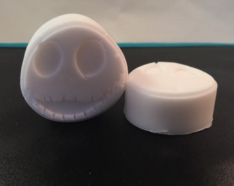 Skeleton Halloween Soap / Halloween Soaps / Skeleton Soaps / Nightmare B4 Xmas / Set of 3 Soaps / 2.5 oz Total / Goat's Milk Soap