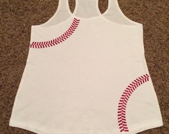 Monogrammed Baseball Tank Top