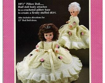 Cinderella: Pillow Doll, Music Box Doll, or Bed Doll Crochet Pattern Fibre Craft FCM163