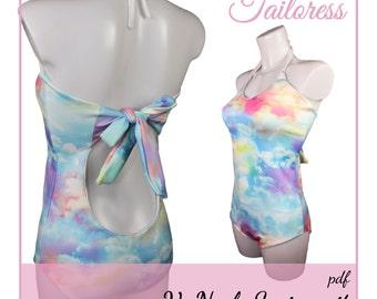 V-Neck Swimsuit PDF Sewing Pattern Bikini Pdf Sewing Patterns Sewing Pattern Bikini Sewing Pattern Bikini Pdf Pattern Swimsuit PDF Swimwear