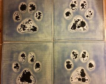 Dog Paw Tile