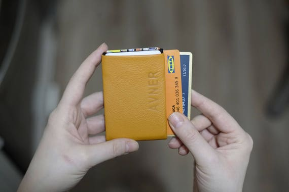 Slim Minimalist Wallet, Leather Wallet, Personalized Leather Wallet, Pocket Slim Design, Minimalist Credit Card Wallet, Mens Leather Wallets
