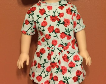 """Roses top and leggings for the 14.5"""" doll"""