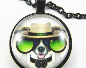 SAFARI JACK Necklace -- Jack Russell necklace for animal lovers, travelers & the adventurous, Gift for him or her
