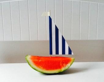 Sailboat Melon Picks