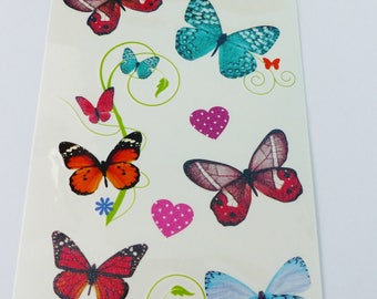 heart Temporary tattoos and temporary Butterfly tattoo Board