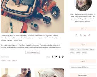 Blogger Template, Blogger Theme, Template Responsive, Minimal, Simple, Grid, Slider, Design, Blogspot - LIVE: www.bit.ly/LauretteTheme
