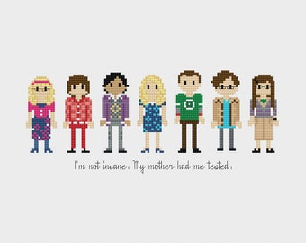 The Big Bang Theory Cross Stitch Pattern PDF Instant Download