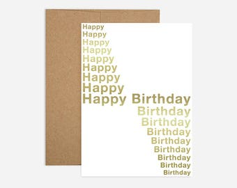 Infinity Birthday Greeting Card