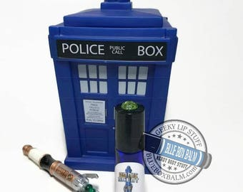 "Sonic Scent - NOBLE - ""Donna Noble"" Doctor Who Inspired Body Scent - A Ginger Vanilla Fragrance in a Blue Glass Roller Bottle"