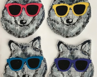 Cool Wolves - Iron On Fabric Appliques