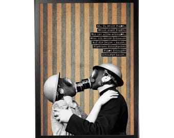 Art print poster collage DADA #2 in A3 (29, 7x42cm)
