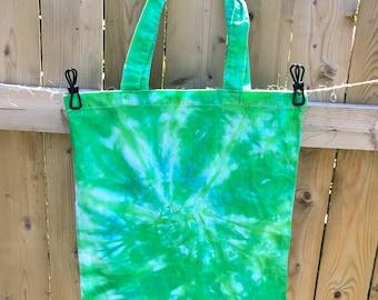 Shibori Tie Dye Tote Bag Christmas Gift Bag Grocery Bag Beach Bag Cotton Eco-friendly  Reusable