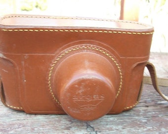 Vintage Argus USA Top Grain Cowhide Camera Case Supplies