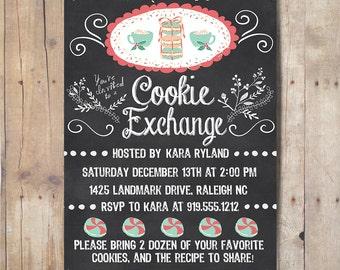 Digital Cookie Exchange Invitation