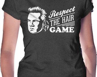 Respect the Hair Game Eugene Mullet T-Shirt