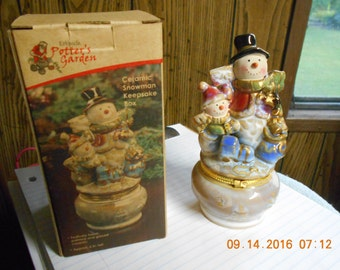 Glazed Snowman Keepsake Box