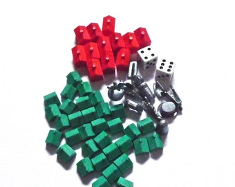 Monopoly Token Die Houses and Hotels