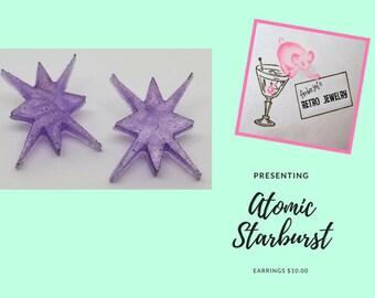 Retro Atomic Starburst Earrings