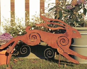 Running Hare Plasma cut rusty
