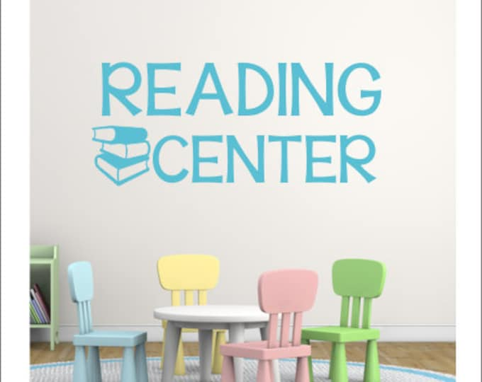Reading Center Decal Reading Vinyl Decal Classroom Decor Reading Center Decor Teacher Decal Classroom Vinyl Decor Wall Decal School Decal